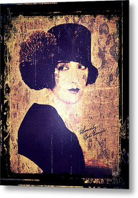 Bebe Daniels - 1920s Actress Metal Print by Absinthe Art By Michelle LeAnn Scott