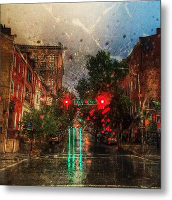 Because Of The Rain Metal Print