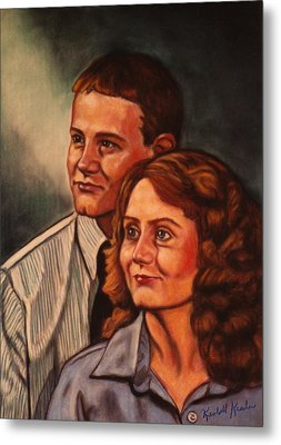 Becky And Ron Yearout Metal Print by Kendall Kessler