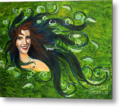 Lady Of The Lake Metal Print by Denise Deiloh