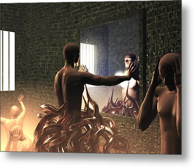 Becoming Disturbed Metal Print