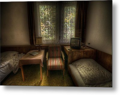 Bed For Two Metal Print by Nathan Wright