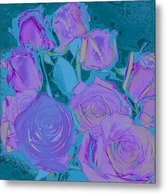 Bed Of Roses II Metal Print by Shirley Moravec