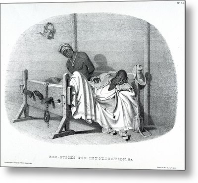 Bed-stocks Metal Print by British Library