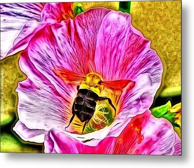 Metal Print featuring the photograph Bee Here In Colour by Al Fritz