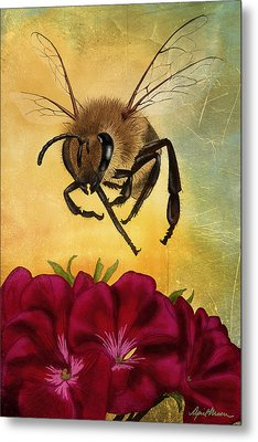 Bee I Metal Print by April Moen