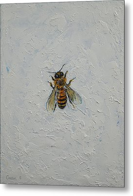Bee Metal Print by Michael Creese