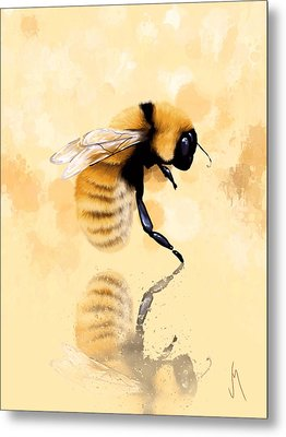 Bee Metal Print by Veronica Minozzi