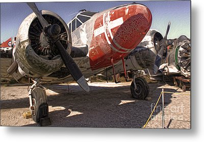 Beech Expeditor Uc-45 - 02 Metal Print by Gregory Dyer