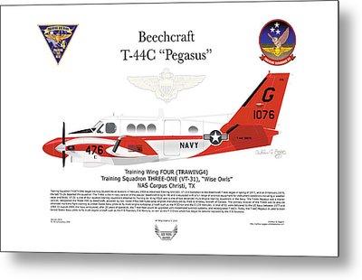 Beechcraft T-44c Pegasus Metal Print