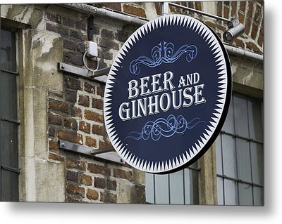 Beer And Ginhouse Metal Print by David Freuthal