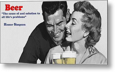 Beer Metal Print by Bill Cannon