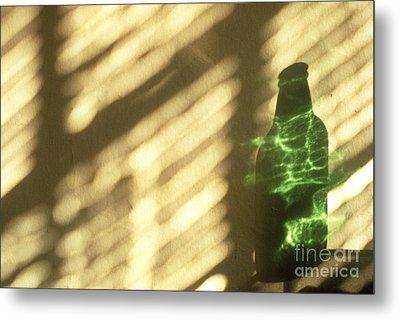Beer Bottle Metal Print by Tony Cordoza