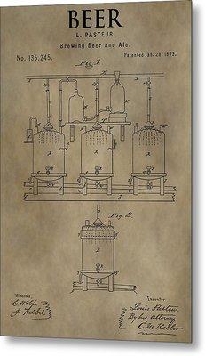 Beer Brewery Patent Metal Print