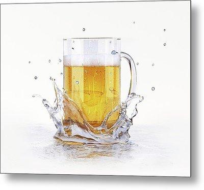 Beer Glass Metal Print