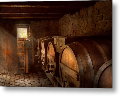 Beer Maker - The Brewmasters Basement Metal Print by Mike Savad