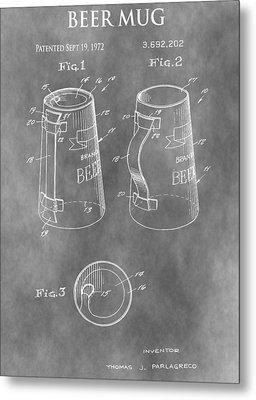 Beer Mug Patent Metal Print by Dan Sproul