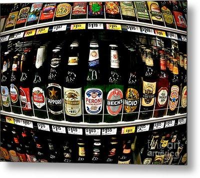 Beer Of Choice II - No.9188 Metal Print