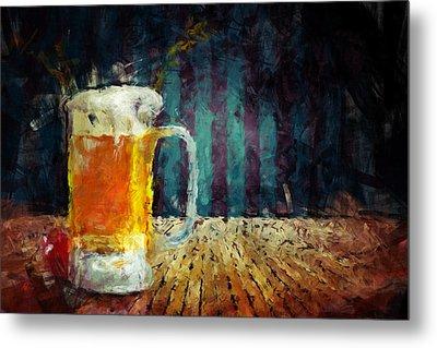 Beer Time Metal Print by Adam Vance