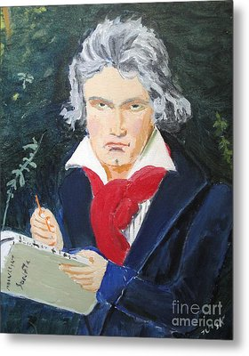 Metal Print featuring the painting Beethoven by Judy Kay