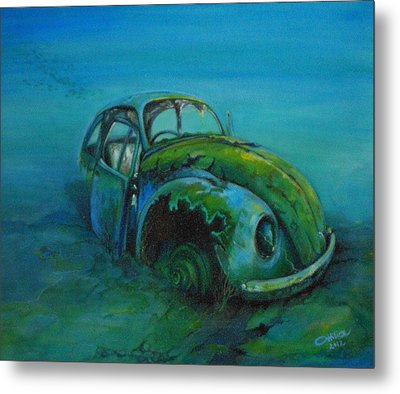 Beetle Forever Metal Print by Ottilia Zakany