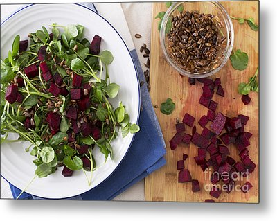 Beetroot Watercress Salad Metal Print