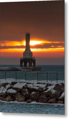 Before The Blizzard Metal Print