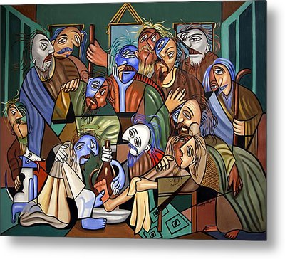 Before The Last Supper Metal Print by Anthony Falbo