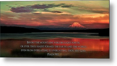 Before The Mountains Metal Print