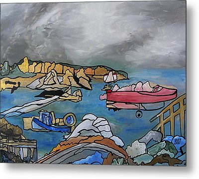 Metal Print featuring the painting Before The Storm by Barbara St Jean