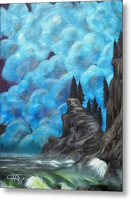Metal Print featuring the painting Before The Storm by The GYPSY And DEBBIE
