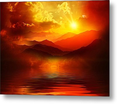 Before The Sun Goes To Sleep Metal Print by Gabriella Weninger - David