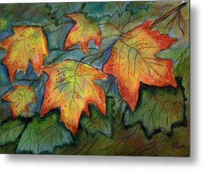 Beginning Fall  Leaves Metal Print by Belinda Lawson