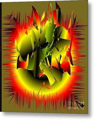 Metal Print featuring the digital art Beginning by Iris Gelbart