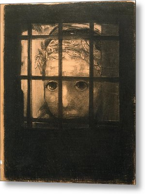 Behind Bars Metal Print by Odilon Redon