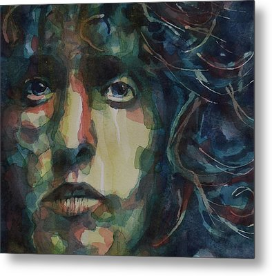 Behind Blue Eyes Metal Print