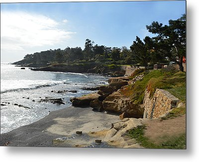 Behind The 18th At Pebble Beach Metal Print by Barbara Snyder