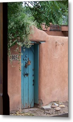 Metal Print featuring the photograph Behind The Blue Door by Sylvia Thornton