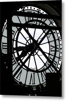 Behind The Clock II Metal Print by Cleaster Cotton