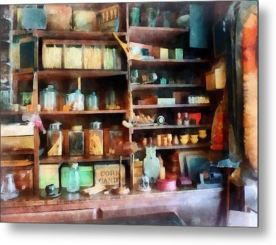 Behind The Counter At The General Store Metal Print by Susan Savad