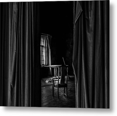 Behind The Curtain Metal Print by David Mcchesney