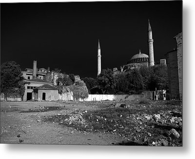 Metal Print featuring the photograph Behind The Hagia Sophia by Ross Henton