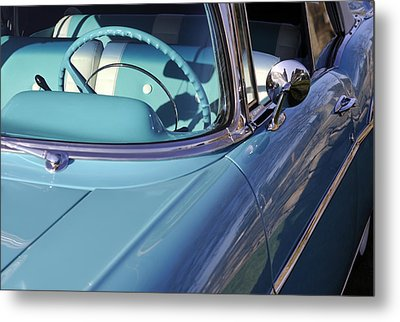 Behind The Wheel Metal Print by Luke Moore