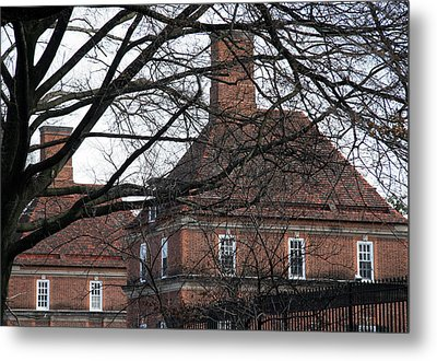 The British Ambassador's Residence Behind Trees Metal Print by Cora Wandel