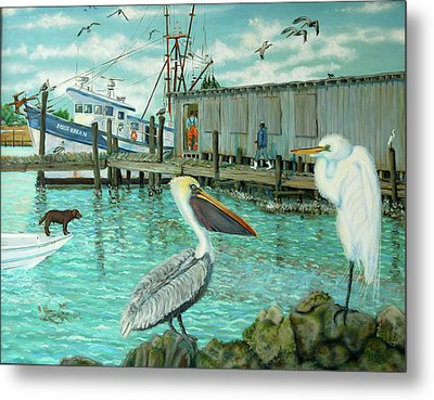 Behind Wando Shrimp Co. Metal Print