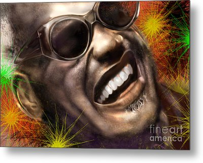 Being Ray Charles1 Metal Print