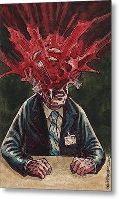 Being Scanned Is Harmless Metal Print by David Shumate