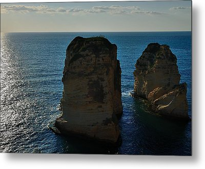 Beirut Pigeon Rocks Metal Print by Steven Richman