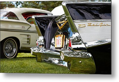Metal Print featuring the photograph Belair Tail Fins  2 by Mick Flynn