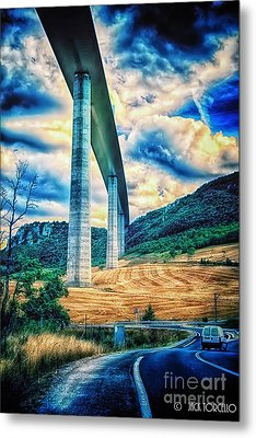 Beleau Millau Viaduct France Metal Print by Jack Torcello
